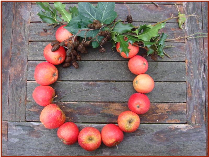 Æblekrans færdig