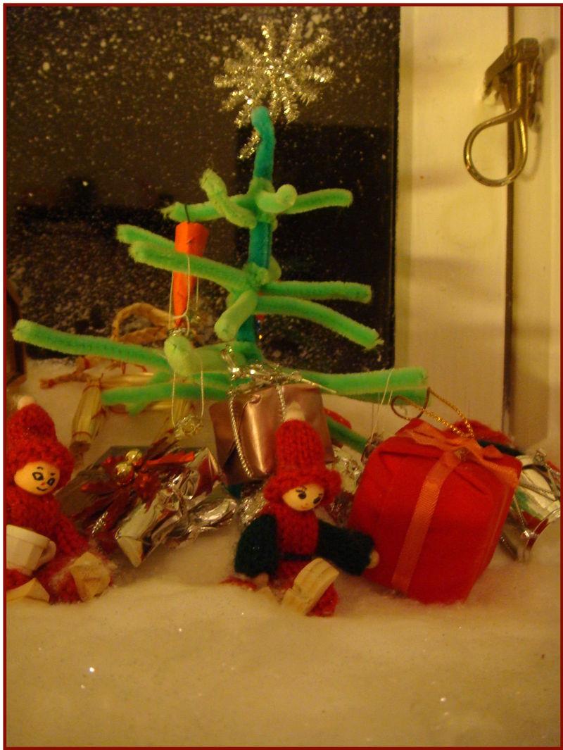 Nisseland juletræ på højkant