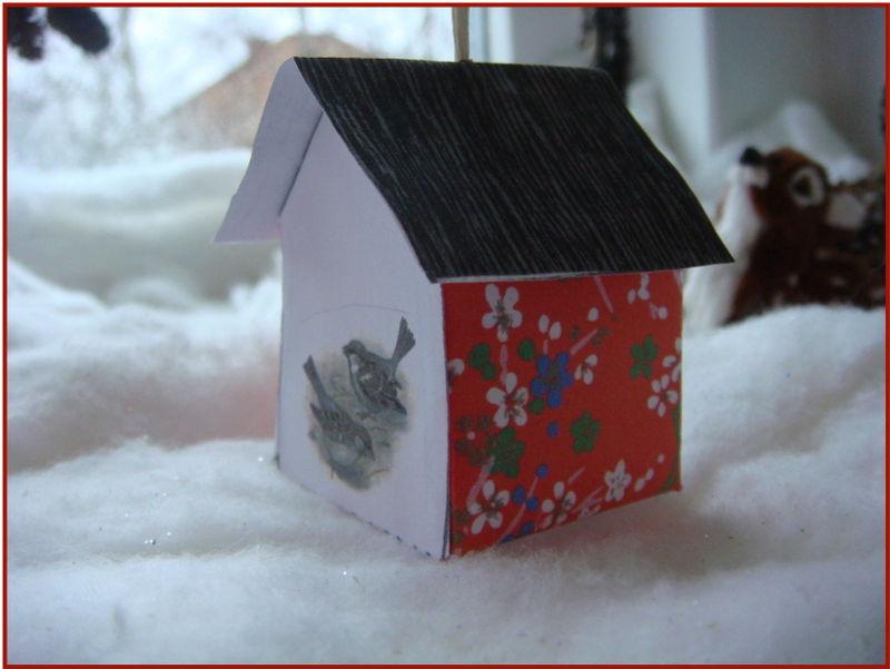Minihus med fugle