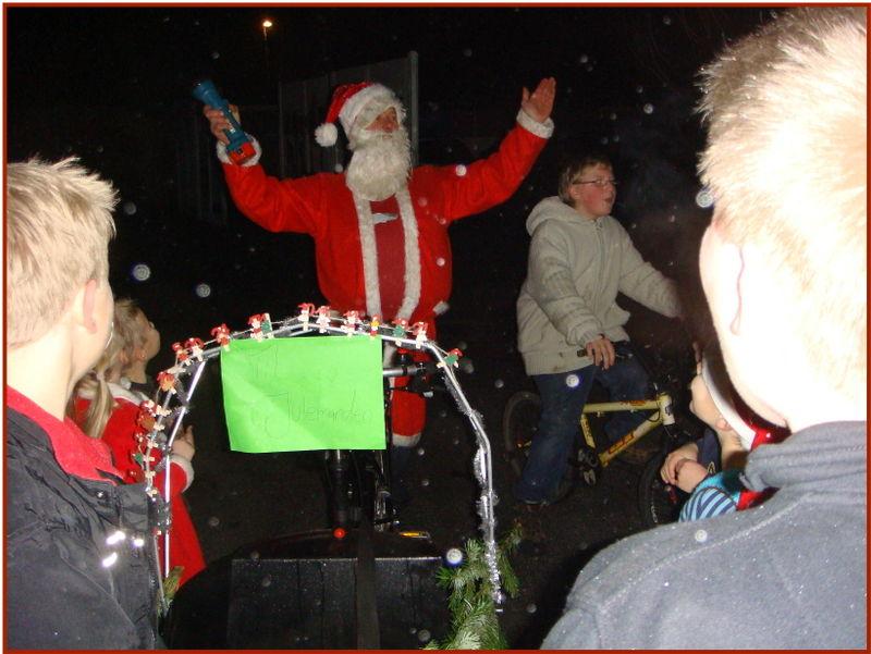Julemanden på cykel