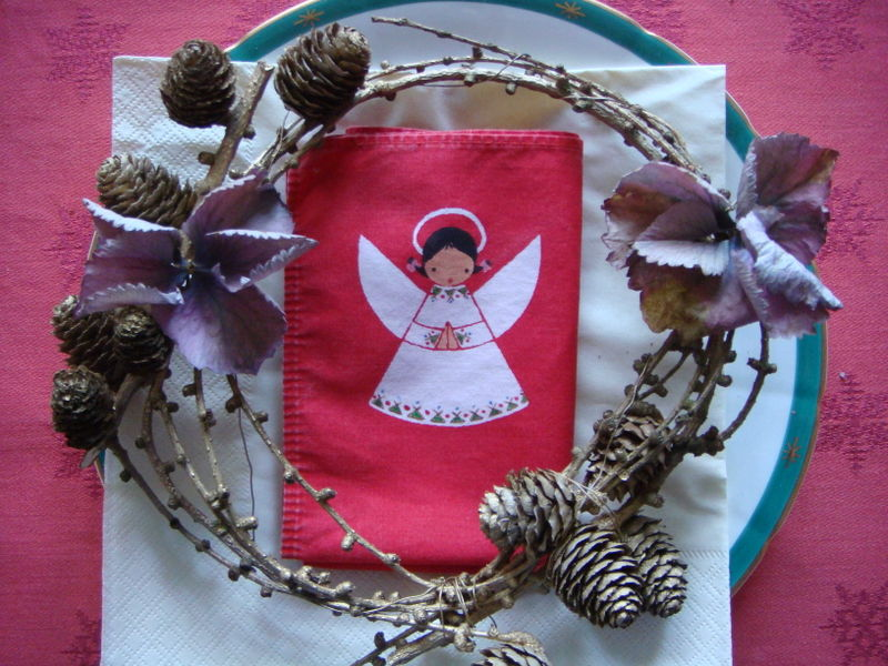 Bordpynt krans med engel
