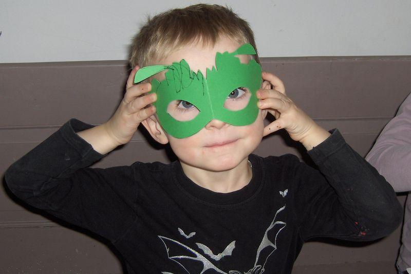 Fastelavnsmasker grøn batmaske
