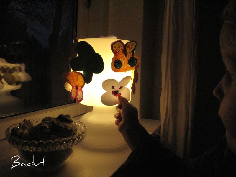 Gaver børn kan lave sommerfugle lampe
