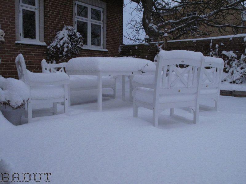 Et snedækket bord