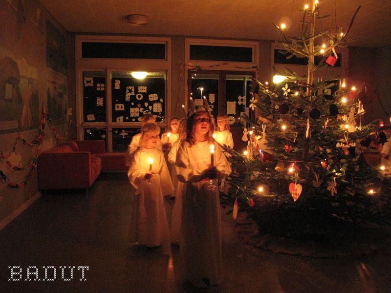 Lucia til julefesten
