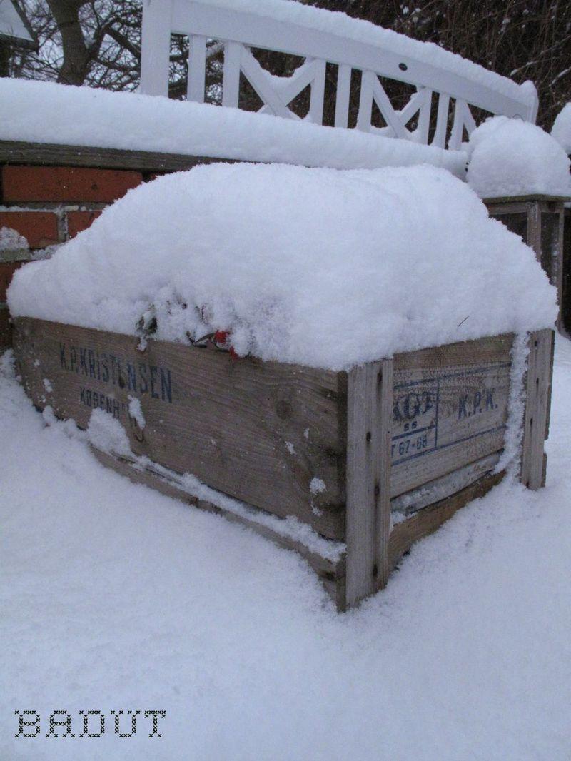 Sne på kasse
