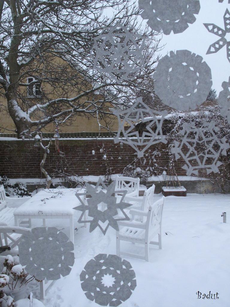 Klippede snefnug