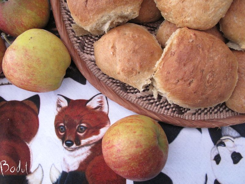 Børnehave boller med æble