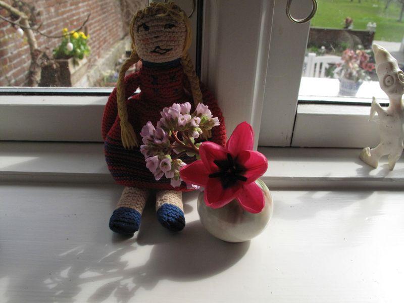 Dukketulipan i vase