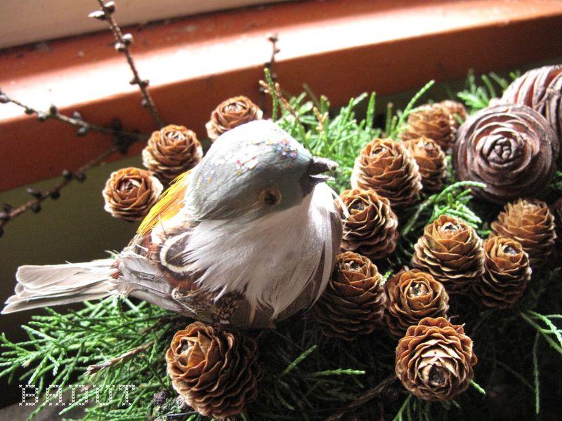 Adventskrans lille fugl