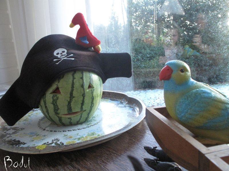 Vandmelon til piratfesten