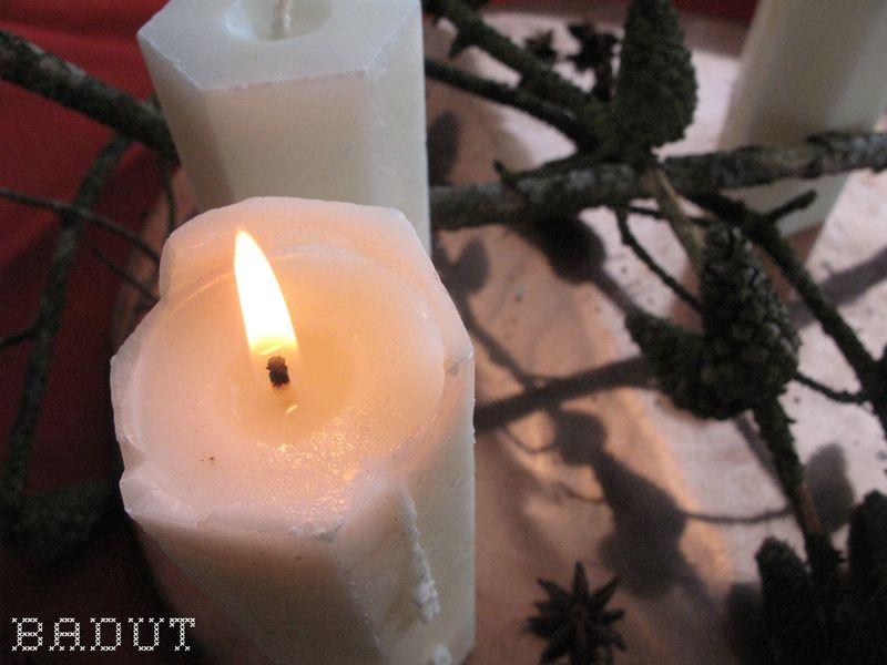 Lynhurtig adventskrans lys