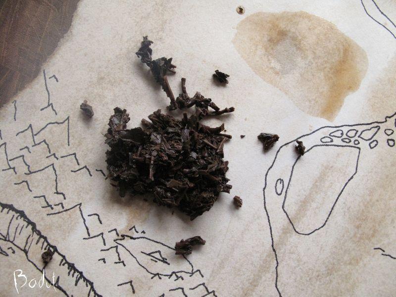 Skattekort med lidt teblade