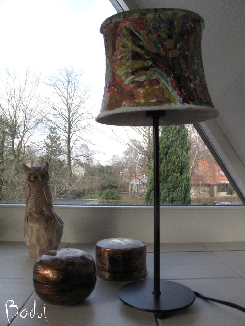 Hjemmelavet lampeskærm om dagen
