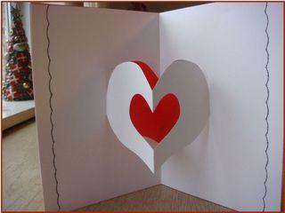 Pop up hjertekort til valentinsdag