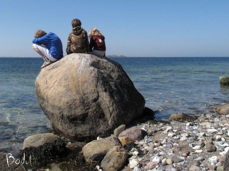 På udsigts stenen