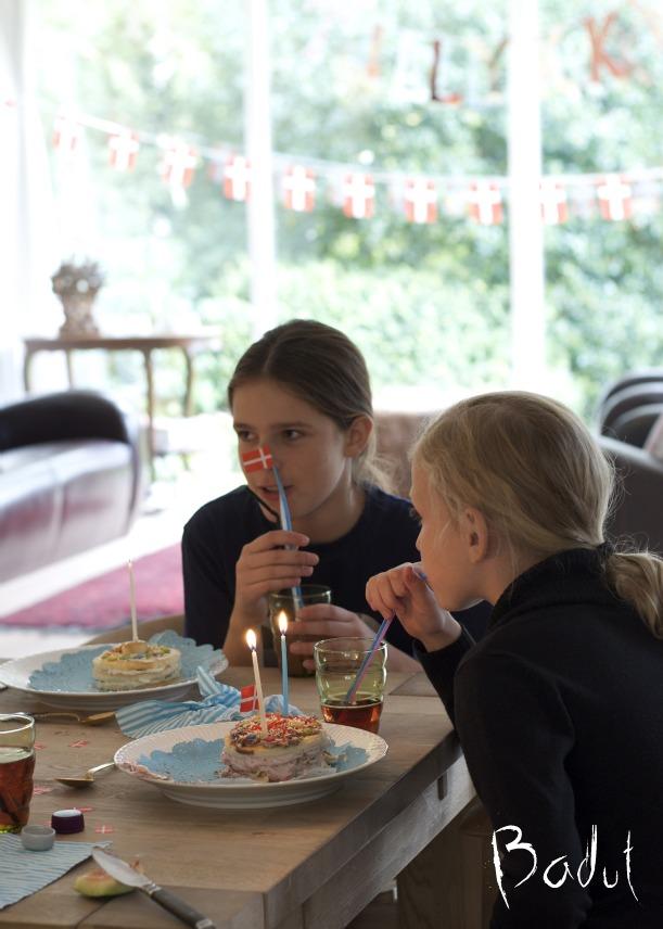 Fødselsdag med lav selv lagkage