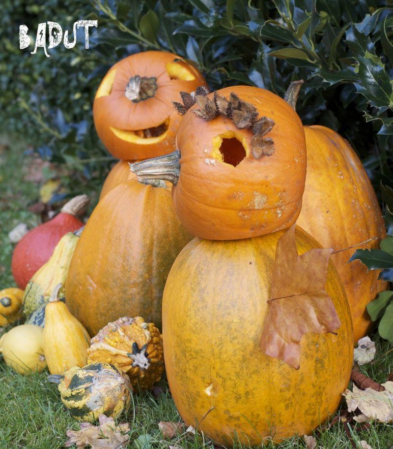 Halloween græskar fra siden