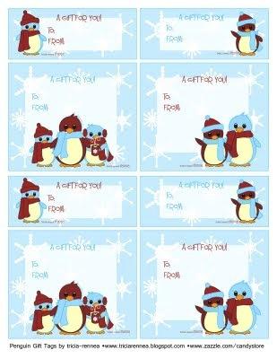 Til og fra kort med pingviner