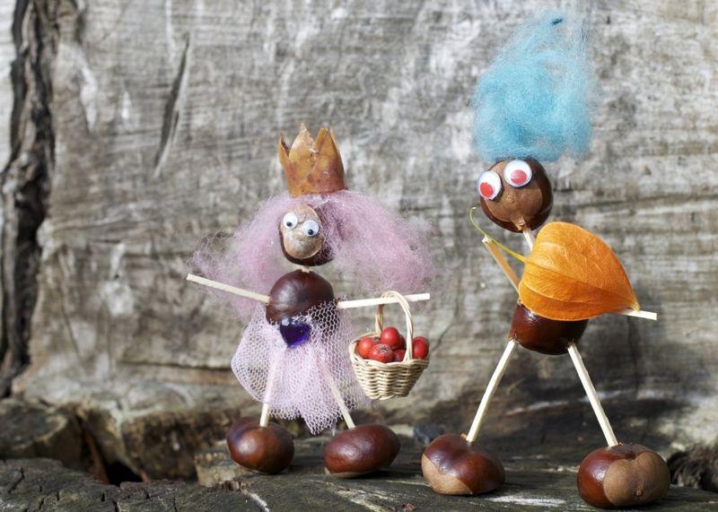 Kastanjedyr prinsesse og hofmand