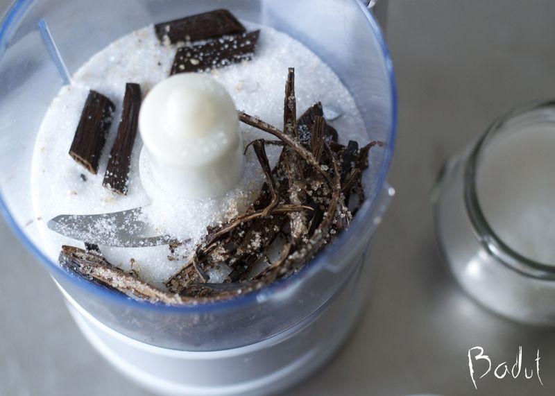 Klar til at hakke vaniljesukker