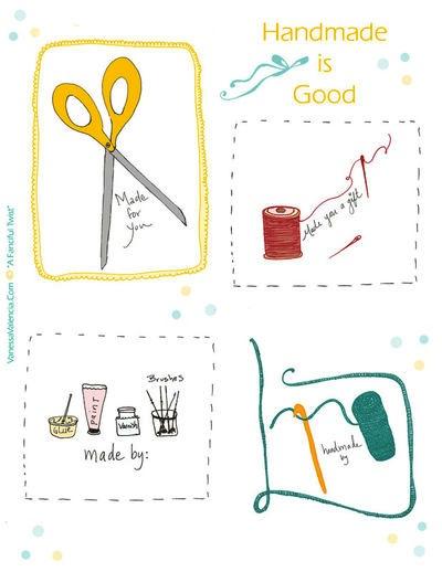 Gavemærker til hjemmelavede gaver