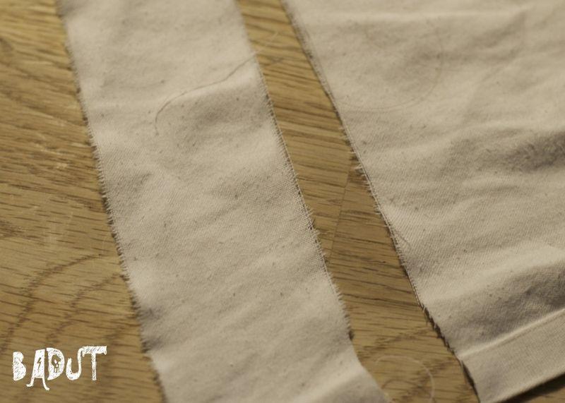 Riv strimler til mumie dragten