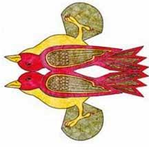 Til og fra kort med dobbelt fugl