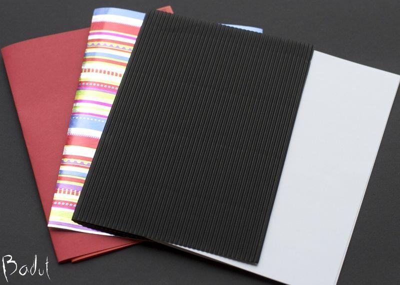 Papir til hjemmelavet notesbog