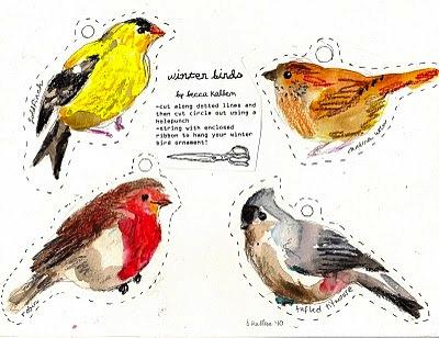 Vinter fugle