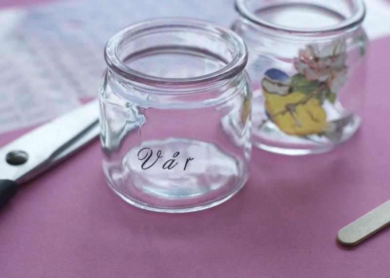 Rub-ons på lysglas