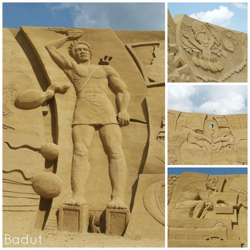 Sandskulpturer i Søndervig Fra den store skulpturvæg