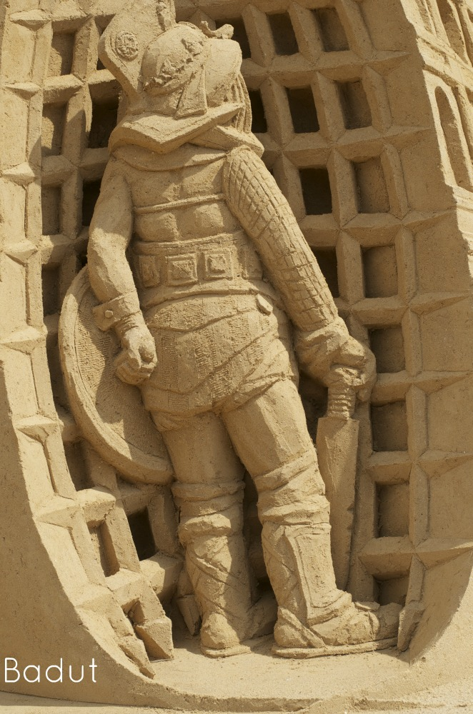 Sandskulptur galiator