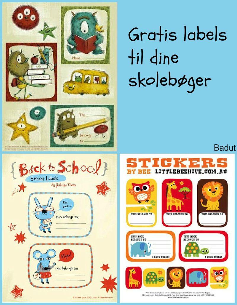 Gratis labels til skolebøgerne