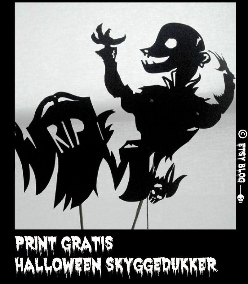 Halloween skyggedukker