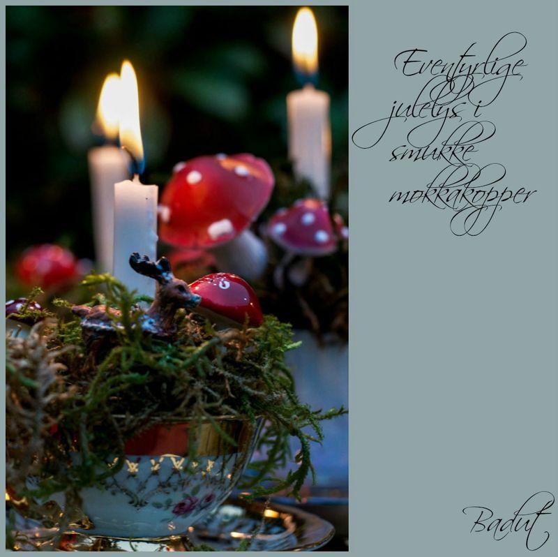 Eventyrlige julelys i smukke kopper