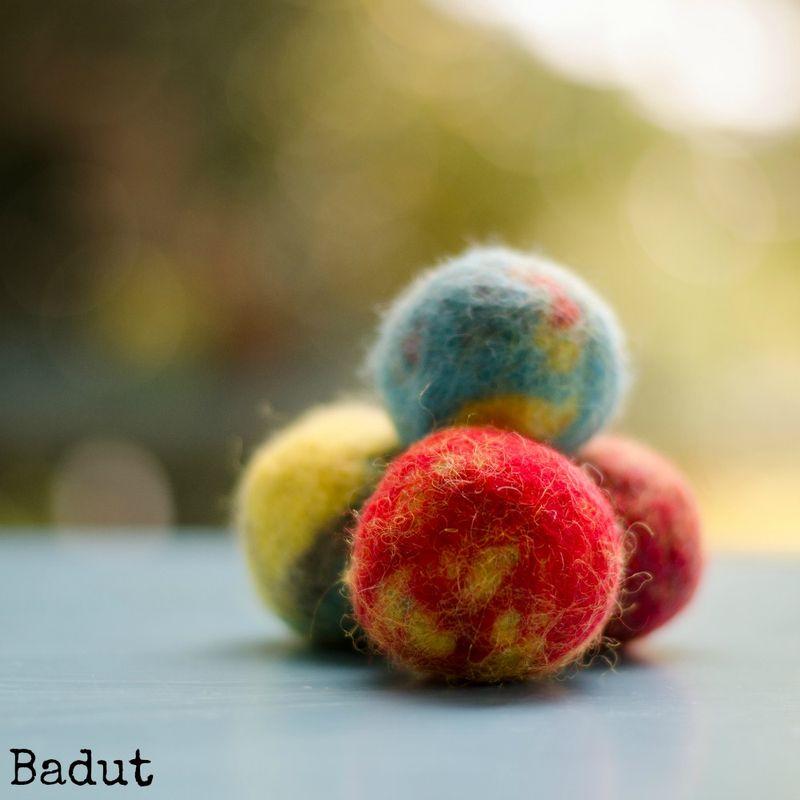 Filt bolde af uld