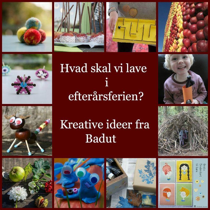 Masser af kreative ideer til efterårsferien