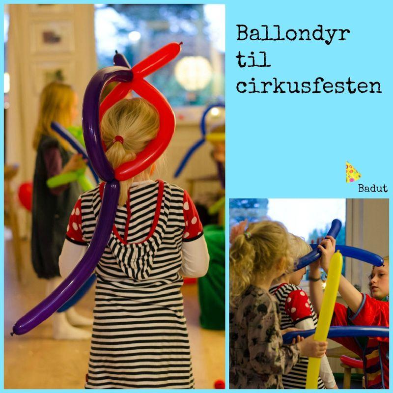 Ballondyr og hatte til cirkusfesten