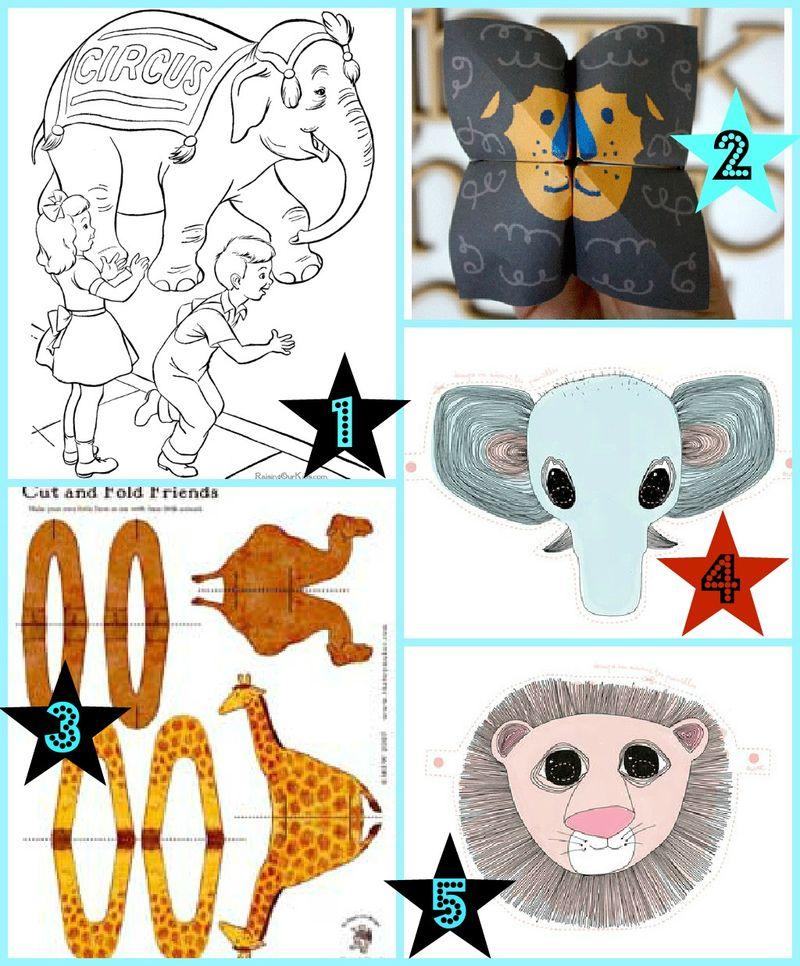 Print selv legetøj til cirkus festen