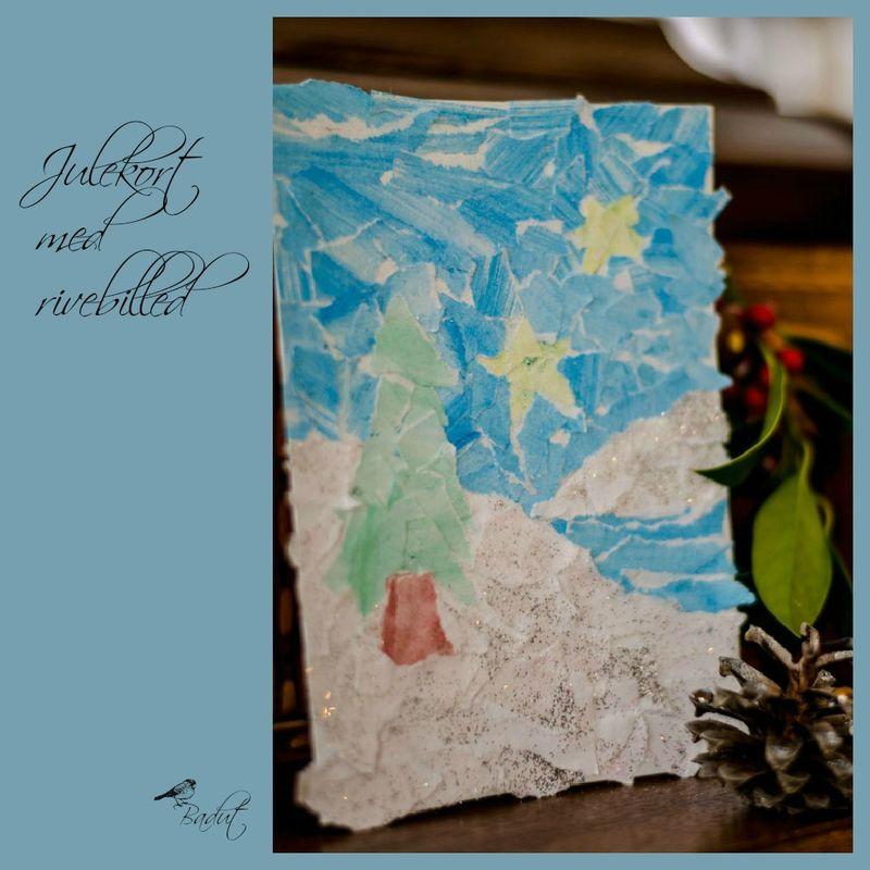 Lav et julekort med rivebilled