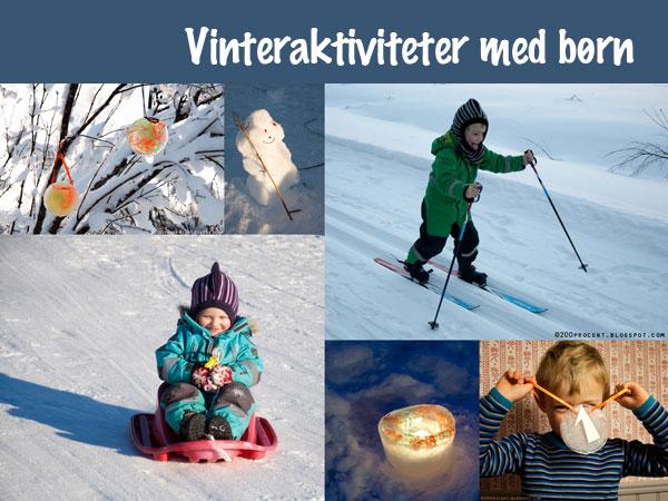 Vinteraktiviteter med børn