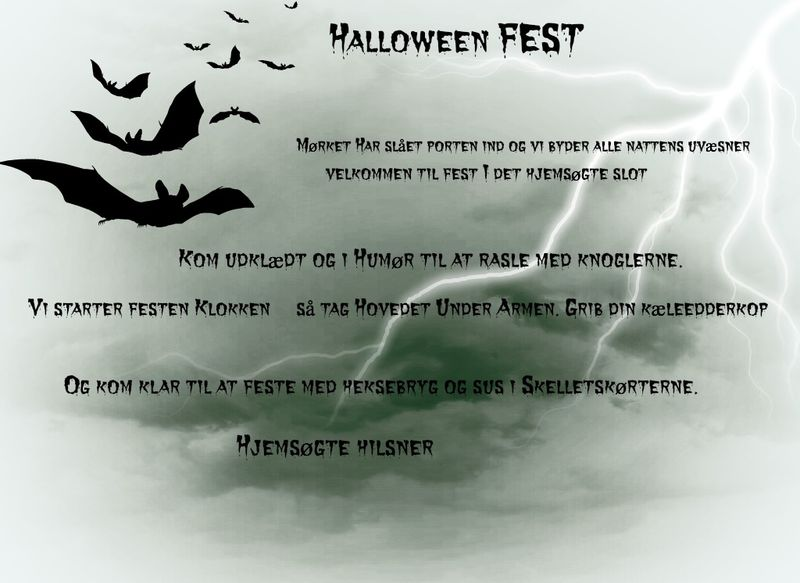 Halloween invitation lige til at printe