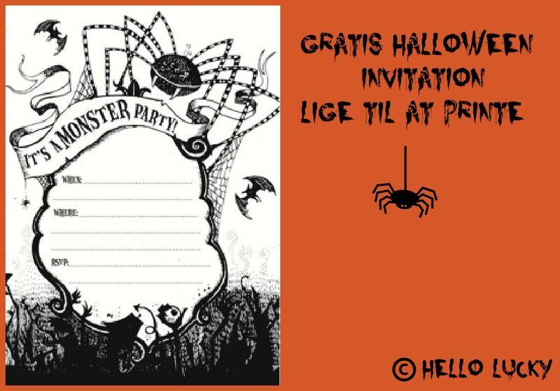 Gratis Halloween invitationer