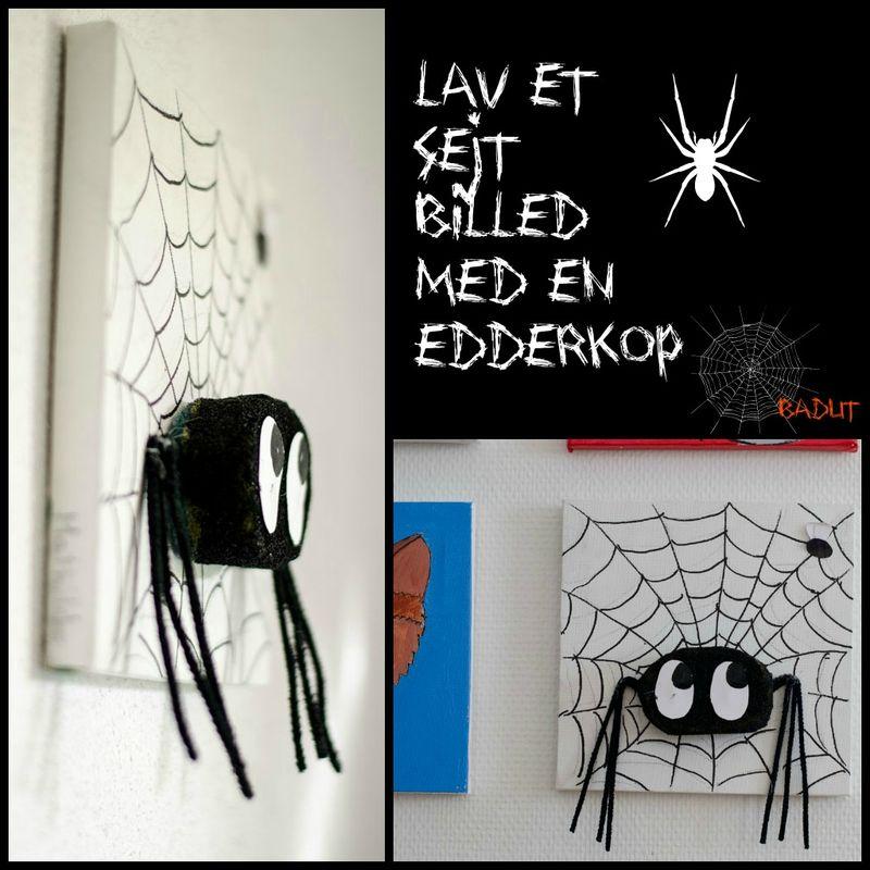 Lav et billed med en edderkop
