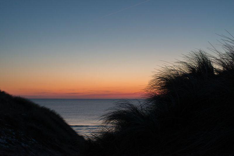 Solnedgang ved Lyngvig fyr-2
