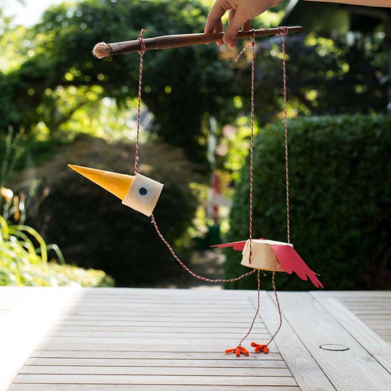 Marionetdukke fugl