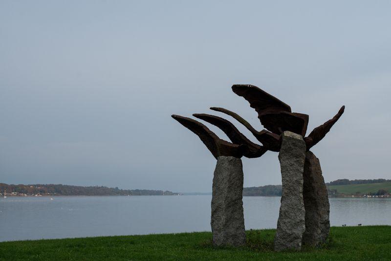 Skulptur ved kolding fjord
