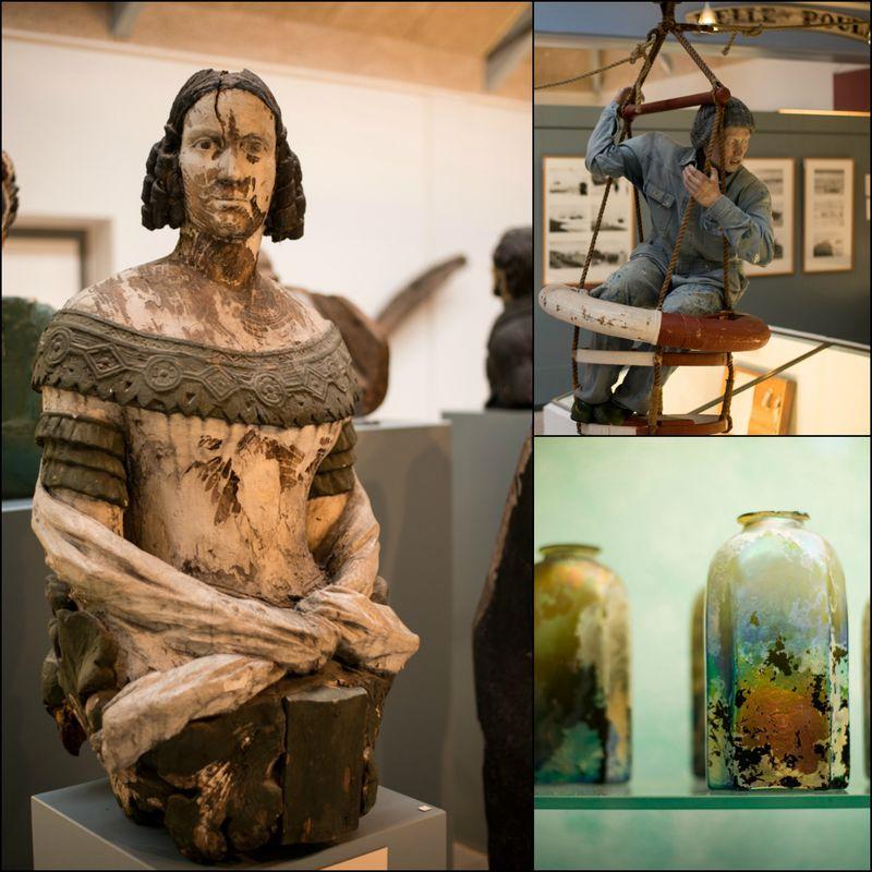 Strandingsmuseum St.George detaljer fra udstillingerne