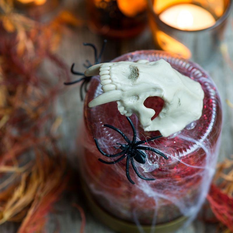 Halloween rystekugle set oppefra